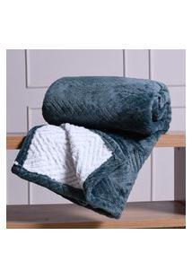 Cobertor King Sherpa Toque Lá De Carneiro Dupla Face 360G/M² Bálsamo - Tessi