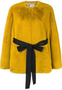 Lanvin Jaqueta Com Cinto - Amarelo