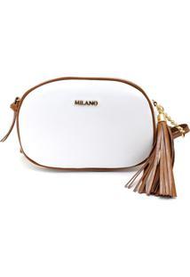 Bolsas Femininas Milano Branco/Caramelo 9553 - Peça