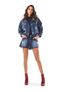 Jaqueta Cropped Premium Jeans - M