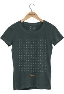 Camiseta Forseti Estonada Caça Palavras Verde - Kanui