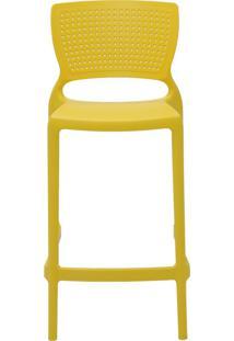 Cadeira Safira Summa Alta Polipropileno Amarelo Tramontina