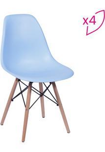 Jogo De Cadeiras Eames Dkr- Azul & Bege- 4Pã§S- Oor Design