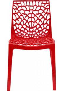 Cadeira Vazada Em Polipropileno Gruvyer Siena Móveis Vermelho