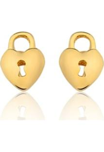 Brincos Rincawesky Coração Dourado - Kanui