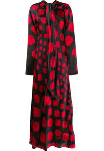 Marni Long Geometric Pattern Dress - Vermelho