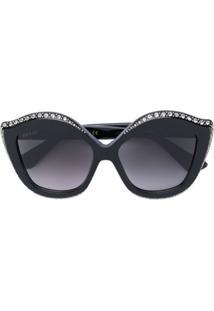 406ba778a4425 ... Gucci Eyewear Óculos De Sol Com Aplicação De Cristal - Preto