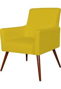 Poltrona Decorativa Lyam Decor Maria Corino Amarelo