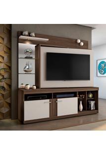 Estante Para Home Theater E Tv Até 60 Polegadas Brasil Imbuia E Off White
