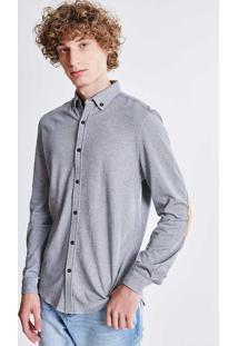 Camisa Com Recorte Em Suede