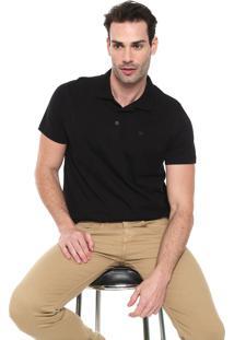 Camisa Polo Colombo Reta Logo Preta