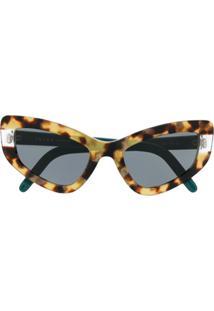 Prada Eyewear Óculos De Sol Gatinho - Neutro