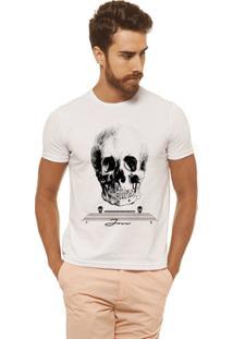 Camiseta Joss Estampada - Caveira Cranio - Masculina - Masculino-Branco