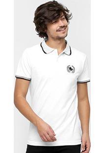 Camisa Polo Rg 518 Gola Poá Masculina - Masculino-Branco
