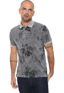 Camisa Polo Aramis Floral Cinza