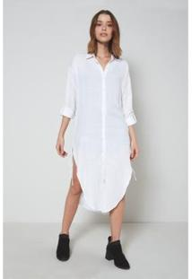 Camisa Oh,Boy! Sobreposição Feminina - Feminino-Branco