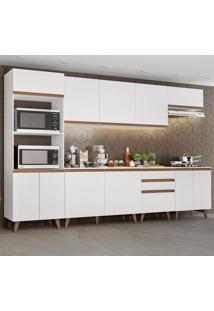 Cozinha Completa Madesa Reims 320002 Com Armã¡Rio E Balcã£O - Branco Branco - Branco - Dafiti
