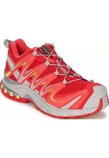 1d63785438 ... Tênis Salomon Feminino Xa Pro 3D Vermelho Cinza 39