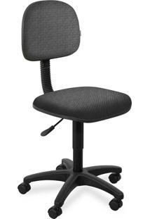 Cadeira Secretã¡Ria Injetada Base Giratã³R Cinza - Cinza - Dafiti