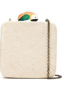 Serpui Clutch De Palha - Neutro