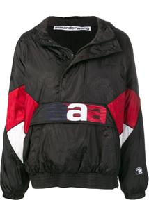 Alexander Wang Oversized Windbreaker - Preto