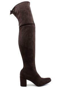 Bota Cano Alto Over The Knee Zatz - Feminino-Marrom