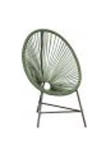 Cadeira De Área Acapulco Bahamas Verde Musgo Corda Sintetica ( 1 Unidade)