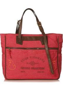 Bolsa Blue Bags Tote Reciclada Bordado Ar Feminina - Feminino-Vermelho