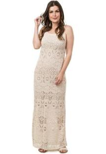 ec3b0011ec Vestido Bege Longo feminino