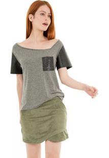 Camiseta Gola Assimétrica 41Onze - Mescla