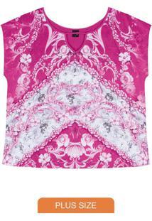 Blusa Rovitex Plus Rosa