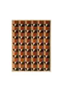 Tapete Marbella Copérnico Retangular (200X250Cm) Caramelo E Preto