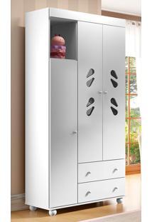 Guarda-Roupa 3 Portas Sorvete Seco Plus - Multimóveis - Branco
