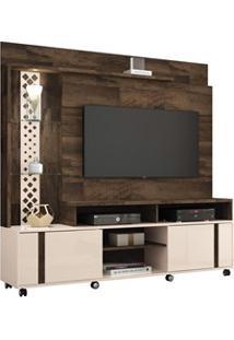 Estante Home Theater Para Tv Até 55 Pol. Vitral Deck/Off White - Hb Mó
