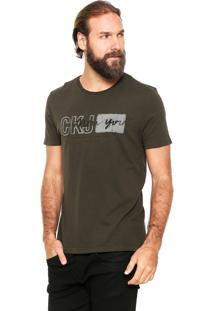 Camiseta Calvin Klein Jeans Ckj New York Verde