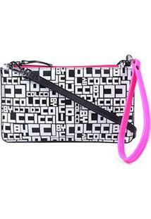 Bolsa Couro Colcci Mini Bag Logomania - Feminino-Pink