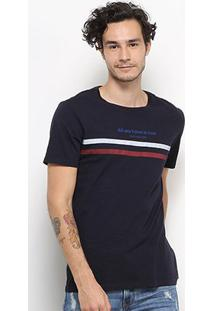 Camiseta Calvin Klein All We Have Is Now Masculina - Masculino-Marinho