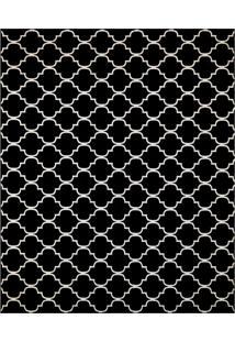 Tapete Monte Carlo Fontvieille Retangular (250X350Cm) Preto E Caramelo