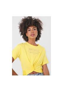 Camiseta Dimy Torção Amarela