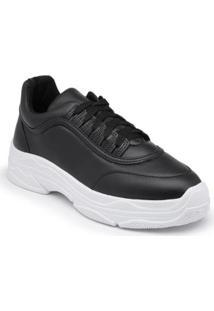 Tênis Tenehi Chunky Sneakers Almofadado Feminino - Feminino-Preto