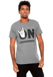 Camiseta Fiveblu Rock On Cinza