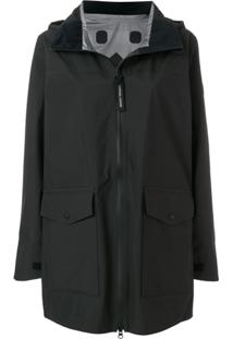 Canada Goose Wolfville Hooded Raincoat - Preto