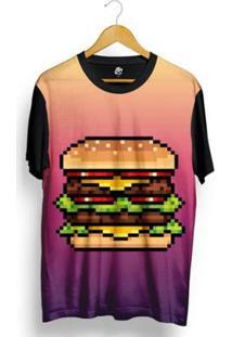 Camiseta Bsc Lance Pixel Sublimada Masculina - Masculino-Roxo