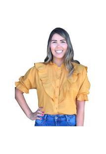 Blusa Bolinha Egoiste Amarelo