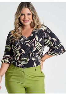 Blusa Estampada Almaria Plus Size New Umbi Entreme
