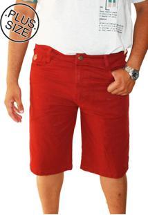 Bermuda Plus Size Jeans Vinho