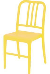 Cadeira Polipropileno Navy - Amarela