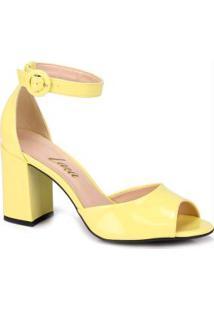 Sandália Salto Lara Amarelo