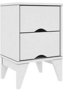 Mesa De Cabeceira 02 Gavetas Twister Tililin Móveis -Branco