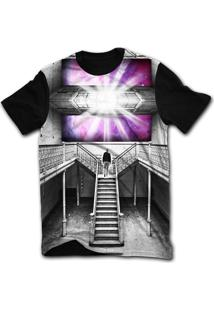 Camiseta Manga Curta Stompy Psicodelica 53 Preto